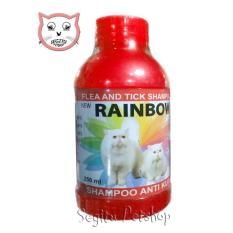 Jual Shampo Kucing Anti Kutu Sampo Tic Flea Rainbow Merah Strawberry Branded Murah