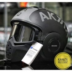 Jual Shark Raw Soyouz Matte Black Grey Antik