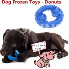 Spek Shine Anjing Mengunyah Gigitan Makanan Mainan Beku Pet Cooling Mainan Pet Puzzle Mainan Tulang Membentuk Biru Intl Shine