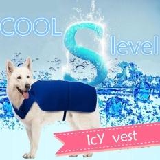 Jual Shine Pet Cooling Clothes Dog Cooling Vest Summer Summer Artifacts Blue Intl Satu Set