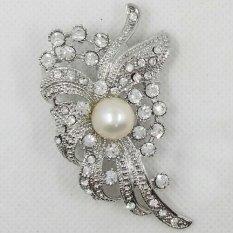Harga Termurah Shinta Jewelry Bross Putih Mutiara