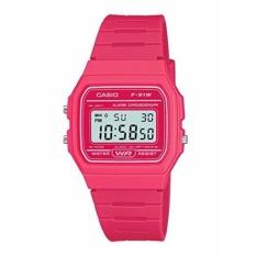 【Ship dari Jepang】 Casio Jam Tangan Casio Digital Standar Watch F-91W Cangkir Berwarna Casio Pink-Intl