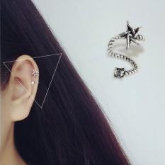 Anting Jepit Tanpa Tindik Korea Fashion Style Perhiasan Perak Anting Tulang Telinga Karakter Bintang Lima