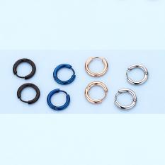 Anting-anting 2018 model baru pasang Pria Anting tindik merah anting Ring tunggal Korea Selatan