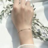 Penawaran Istimewa Shiwu S925 Korea Fashion Style Perempuan Baik Baik Saja Manik Manik Gelang Gelang Sterling Silver Gelang Gelang Terbaru