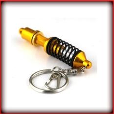 Shock Absorber Key Ring Adjustable Coilover Mobil Auto Bagian Gantungan Kunci Warna: Emas Ukuran: 7.8 CM