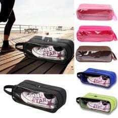 Shoes Bag Organizer - Tas Sepatu Multifungsi Tas Sepatu Transparan Tas Sepatu Futsal Dan Olah Raga - Biru