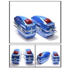 Side Box K6 Motor Dimodifikasi Side Box ABS dengan Lampu Side Box Pangeran Mobil Sisi Kotak Eagle King Dimodifikasi Sisi kotak (Biru) -Intl