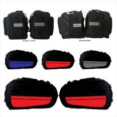Beli Sidebag Motor Side Bag Side Kick Oval Tas Samping Motor Waterproof Funcover Biru Terbaru