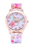 Spesifikasi Tali Silikon Indah Rose Bunga Borcelain Super Desain Geneva Wrist Watch Intl Lengkap Dengan Harga