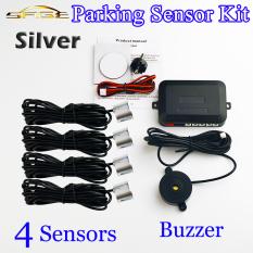 Silver 4 Sensor Bel 22mm Kit Sensor Parkir Mundur Mobil Radar Kampanye Versus Peringatan Suara Pemeriksaan Sistem 12 V