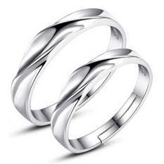 Perak Adjustable beberapa cincin perhiasan sayang pecinta cincin E008