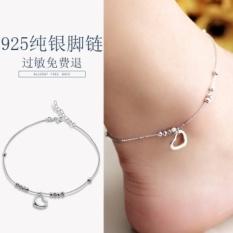 Beli Silver Austria Minimalis Wild Bell Sen Departemen Sterling Silver Anklets Wanita Pria Korea Cool Retro Gaya Korea Siswa Kaki Rantai Segar Internasional Murah Tiongkok