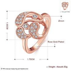 Perhiasan Perak Online Zirkon Berlapis Emas Wanita Pengaturan Saluran Geometris 8 Putih Berlapis Emas-Internasional