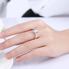 Silver Plated Women Pernikahan Pave Setting Hot Jual 8 Ungu Berlapis Perak Putih-Intl