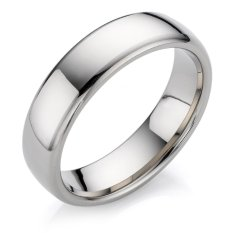 Silver Ring Titanium size 6 CINCIN ANTI LUNTUR