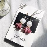 Beli Kepribadian Sederhana Bunga Ditiru Pearl Liontin Earrings Fashion Temperamen Elegan Earrings Intl Oem Asli