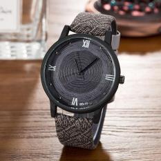 Simulasi Kayu Relojes Stump QUARTZ Men Jam Tangan Casual More Warna Kulit Strap Watch Kayu Pria Jam