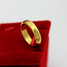 Obral Sinar Mas A68 Sederhana Permukaan Kuningan Berlapisan Emas Cincin Pernikahan Cincin Pasangan Murah