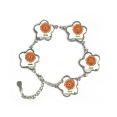 Singapore Flyer Landmark Flower Shape Metal Bracelet Chain Gifts Jewelry With Chain Decoration - intl