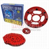 Spesifikasi Sinnob Chain Kit Gear Set Rantai Mega Pro Colour Merah Sinnob Terbaru