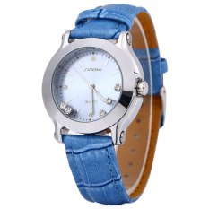 Diskon Sinobi 9276 Wanita Crystal Quartz Watch Leather Strap Blue Intl Tc