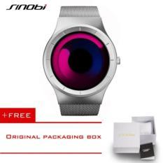 Ulasan Tentang Sinobi Formal Watches For Men Stainless Steel Mesh Strap Creative No Seconds Design Geneva Quartz Clock 4178