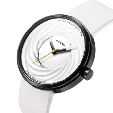 SINOBI Pria Watch Lensa Cembung Unik Kuarsa Whirlwind Permukaan Desain Jam Tangan untuk Pria-Intl