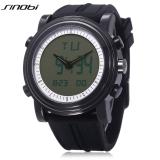 Penawaran Istimewa Sinobi S9368G Pria Dual Movt Quartz Watch Led Light Kalender Luminous Display 3Atm Jam Tangan Hitam Intl Terbaru