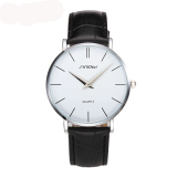 Toko Sinobi Slim Analog Leather Quartz Watch Silver Putih Terlengkap