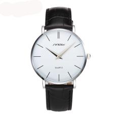 Beli Sinobi Slim Analog Leather Quartz Watch Silver Putih Murah Tiongkok
