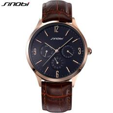 Beli Sinobi Slim Leather Mens Watches Casual Sports Japan Movt Quartz Watch Men Clock Male Wristwatch Intl Pakai Kartu Kredit