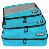 Penawaran Istimewa Sinokal Packing Organizer Multi Fungsional Portable Travel Luggage Koper Polyester Packing Kubus Organizer Wadah Penyimpanan Tas Pouch With Ritsleting Biru Terbaru