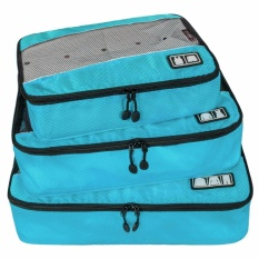 Jual Sinokal Packing Organizer Multi Fungsional Portable Travel Luggage Koper Polyester Packing Kubus Organizer Wadah Penyimpanan Tas Pouch With Ritsleting Biru Sinokal Online