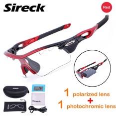 Sireck 3 Gaya Photochromic Lensa + Lensa Terpolarisasi Olahraga Bersepeda Kacamata Luar Ruangan Kacamata Hitam Sepeda Berkuda Kacamata Olahraga Mata Pelindung- internasional