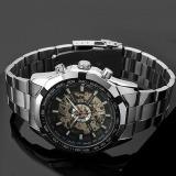 Toko Kerangka Jam Otomatis Untuk Men Perak Jam Tangan Stainless Steel Di Tiongkok