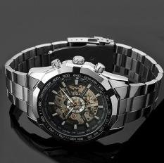 Kerangka Jam Otomatis Untuk Men Perak Jam Tangan Stainless Steel Original