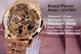 Harga Skeleton Tourbillon Jam Tangan Mekanis Otomatis Pria Klasik Kulit Emas Rose Mechanical Wrist Jam Tangan Reloj Hombre Intl Online Tiongkok