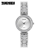 Beli Skimei 1224 Women Diamond Fashion Bracelet Rose Quartz Luxury Watch Silver Intl Skmei Murah