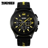 Toko Skimei Pria Kasual Silikon Kuarsa Watch Tahan Air Fashion 30 Meters Tahan Air Stopwatch 9136 Kuning Intl Skmei Tiongkok