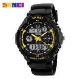 Spesifikasi Skmei 0931 Hijau Led Military Watch Dengan 2 Zona Waktu Chronograph Double Movts Dan Round Dial Allwin Internasional Lengkap Dengan Harga