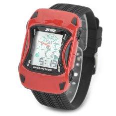Toko Skmei 0961B Gaya Mobil Elektronik Silicone Band Digital Jam Tangan Untuk Anak Anak Merah Hitam Lengkap Di Hong Kong Sar Tiongkok