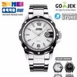 Spesifikasi Skmei Jam Tangan Pria Cowok Analog Stainless Steel Water Resistant 0992 0992Cs Original Silver Lengkap