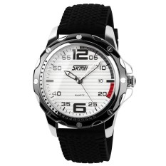 Promo Skmei 0992 Sport Jelly Quartz Men Casual Watch Calendar Date 30M Waterproof Wristwatch White Black Intl Skmei