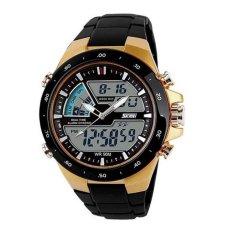 Toko Skmei 1016 Jam Tangan Pria Wanita Casual Sport Analog Digital Silikon Pu 44 Mm Anti Air 50 M Renang Water Resistant Watches Gold Online Indonesia