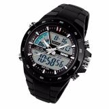 Skmei 1016 Jam Tangan Pria Wanita Casual Sport Analog Digital Silikon Pu 44 Mm Anti Air 50 M Renang Water Resistant Watches Hitam Skmei Diskon 50