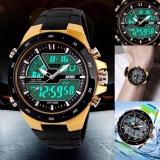Miliki Segera Skmei 1016 Pria Olahraga Watches Digital Og Alarm Tahan Air Jam Tangan Multifungsi Yang Militer Emas