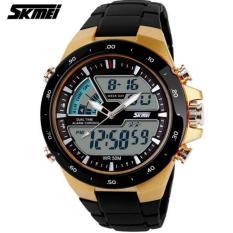 SKMEI Jam Tangan Pria Sport LED Waterproof Rubber Strap Wrist 1016