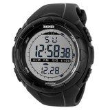 Spesifikasi Skmei 1025 Jam Tangan Pria Sport Digital Rubber 50 Mm Anti Air 50 M Renang Water Resistant Watches Hitam Merk Skmei