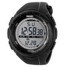 SKMEI 1025 Jam Tangan Pria Sport Digital  Rubber 50 mm - Anti Air 50 M Renang - Water Resistant Watches - HITAM